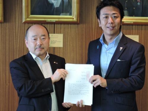 瀬尾会長と高島市長